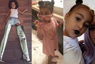 I 4 anni di North West, la figlia di Kim tra rossetti, occhiali rosa e stivali argento