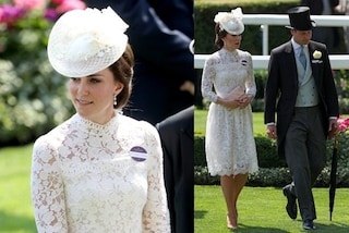 Kate Middleton in bianco come una sposa al Royal Ascot: l'abito costa oltre 4mila sterline