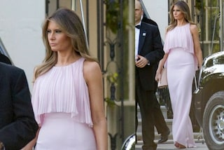 Melania Trump in rosa: il look da matrimonio della First Lady