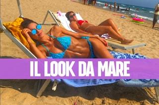 Anna Tatangelo al mare: occhiali da sole abbinati al sexy bikini