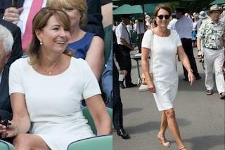 Carole Middleton a Wimbledon: la mamma di Kate sceglie un look total white