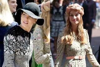Charlotte col cappello, Beatrice col turbante: le principesse di Monaco alle nozze reali