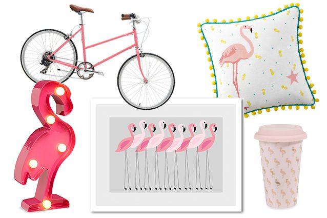 bicicletta Tokyobike, lampada Primark, stampa su Dalani, cuscino e bicchiere Maisons du Monde