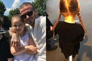Harper e la passione per le trecce: le acconciature dalla piccola di casa Beckham