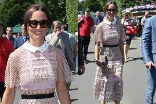Pippa Middleton osa a Wimbledon: l'abito trasparente lascia intravedere la silhouette