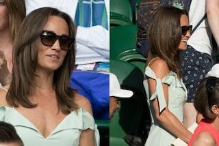 Scollatura audace e spalle in mostra: Pippa Middleton punta sulla sensualità a Wimbledon