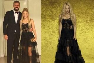 Shakira al matrimonio di Messi: la popstar ricicla l'abito indossato in copertina