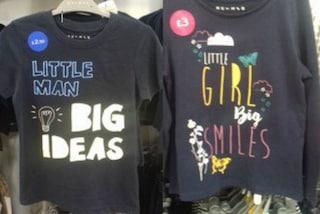 I maschi hanno grandi idee, le femmine grandi sorrisi: le t-shirt sessiste indignano il web