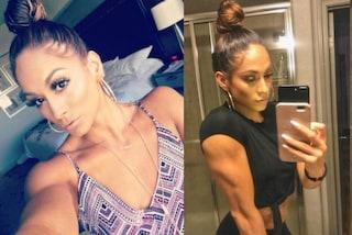 Stesse acconciature e stessi lineamenti: Janice è la sosia muscolosa di Jennifer Lopez