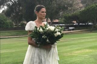L'abito da sposa di Bianca Balti: romantico vestito per il matrimonio della modella
