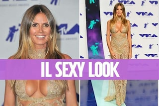 Heidi Klum mostra il seno ai VMA's: a 44 anni è la più sexy sul red carpet