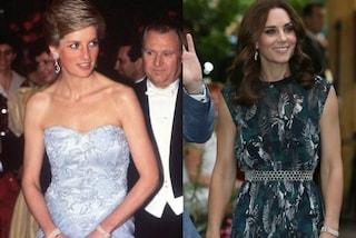 Anello di zaffiri e tiara di diamanti: i gioielli appartenuti a Diana e indossati da Kate
