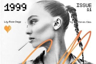 La svolta sexy di Lily-Rose Depp: posa in copertina in topless mentre fuma una sigaretta