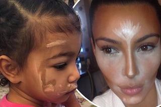 North West, la figlia di Kim Kardashian, a 4 anni trucca il volto con il contouring