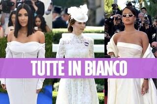 """Tutte pazze per il bianco: le star che hanno sfoggiato un look """"da sposa"""" sul red carpet"""