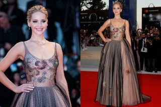 Gonna di tulle e trasparenze audaci: Jennifer Lawrence in versione principessa a Venezia