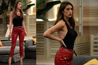 Cecilia Rodriguez al GF Vip: per l'incontro con Monte pantaloni rossi e schiena nuda