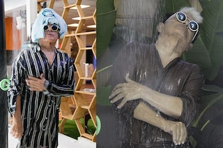 Con una vestaglia in seta: ecco come fa la doccia Cristiano Malgioglio al GF Vip