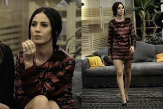 """Giulia De Lellis, paillettes """"rosso-nere"""" e gambe in mostra al GF Vip"""
