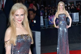 Nicole Kidman come una sirena: sul red carpet indossa l'abito metallico