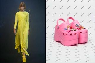 Le Crocs diventano glamour: Balencianga porta in passerella un modello con la zeppa