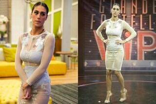 Cecilia Rodriguez, nude look al GF Vip: trasparenze, intimo in mostra e capelli finti