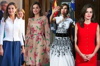 Abiti fiorati e tacchi alti: Letizia di Spagna è regina di stile