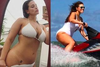 Ashley Graham più sexy che mai: cala il bikini e mostra il tatuaggio all'inguine