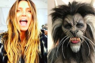 L'incredibile trasformazione di Heidi Klum: per Halloween è diventata un lupo mannaro