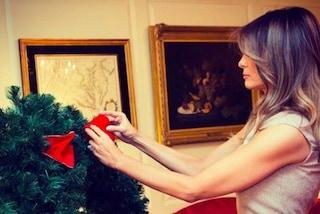 Melania Trump rivoluziona la Casa Bianca con le decorazioni di Natale