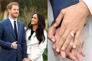 L'anello di fidanzamento di Meghan Markle: è realizzato con i diamanti di Lady D.
