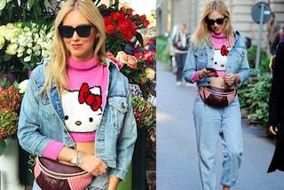 Chiara Ferragni scopre il pancino: il maglione di Hello Kitty rivela le rotondità