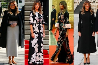 Abiti a fiori e dettagli in pelliccia: Melania Trump in Cina è più glamour che mai