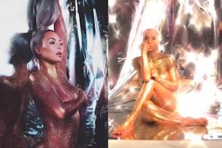 Kim Kardashian nuda su Instagram: posa sexy ricoperta solo di glitter