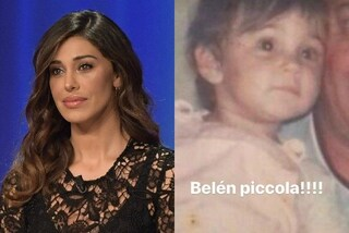 La foto di Belén Rodriguez da bambina: l'argentina era identica al figlio Santiago