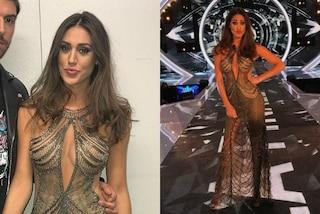 Cecilia Rodriguez con l'abito trasparente: per la finale del GF Vip sceglie il nude look
