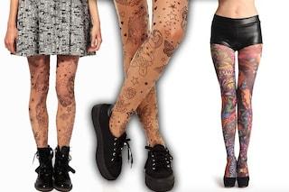 Collant tattoo, le calze ad effetto tatuaggio da provare subito