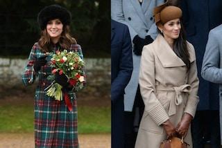 Sfida a colpi di cappelli: a Natale Kate indossa il colbacco, Meghan punta sul  marrone