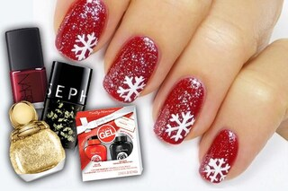 Manicure di Natale: le idee per unghie scintillanti