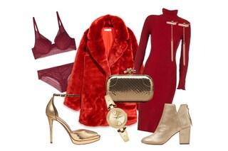 Abiti rossi e accessori oro: ecco come creare un look trendy per le feste