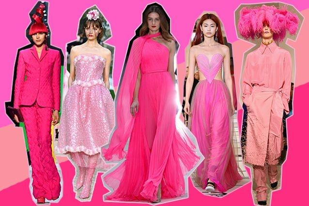 da sinistra Jean Paul Gaultier, Chanel, Ralph e Russo, Schiaparelli, Valentino