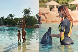 Il sexy bikini di Belén Rodriguez: durante il viaggio a Dubai infiamma i social