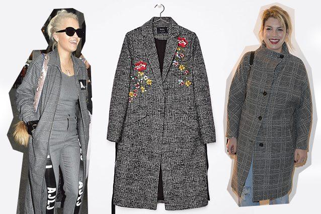 da sinistra Rita Ora in Au Jour Le Jour, cappotto Bershka, Emma Marrone in N.21