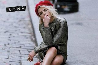 Basco e scarpe rosse: il look di Emma Marrone per il nuovo album del 2018