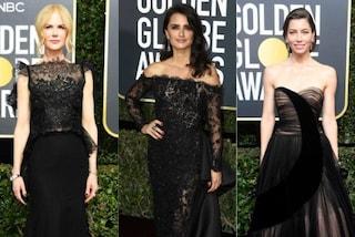 Golden Globe 2018, i look delle star: tutti in nero in segno di protesta