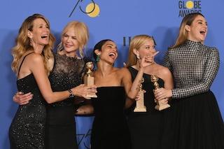 Tutte in nero ai Golden Globe: scelta ipocrita? Forse, ma senza dubbio necessaria