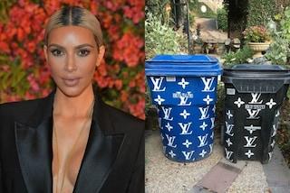 Kim Kardashian regina del lusso: ha i cassonetti dell'immondizia firmati Louis Vuitton