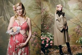 Kirsten Dunst conferma la gravidanza e posa con il pancione in mostra per Rodarte