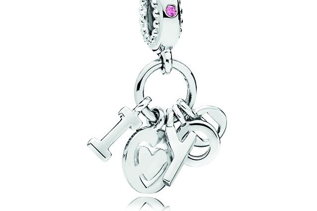 Charm Pendente I Love You in Argento.