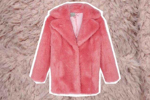 pelliccia rosa Asos